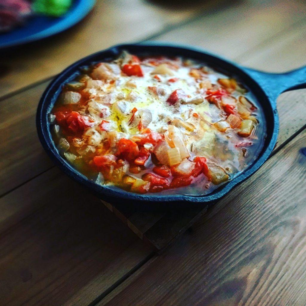 lodgeスキレットで作る野菜スープ