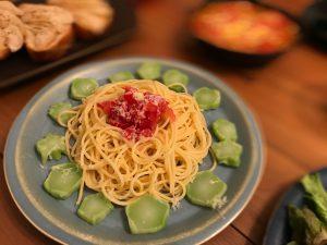 トマト塩漬けパスタ