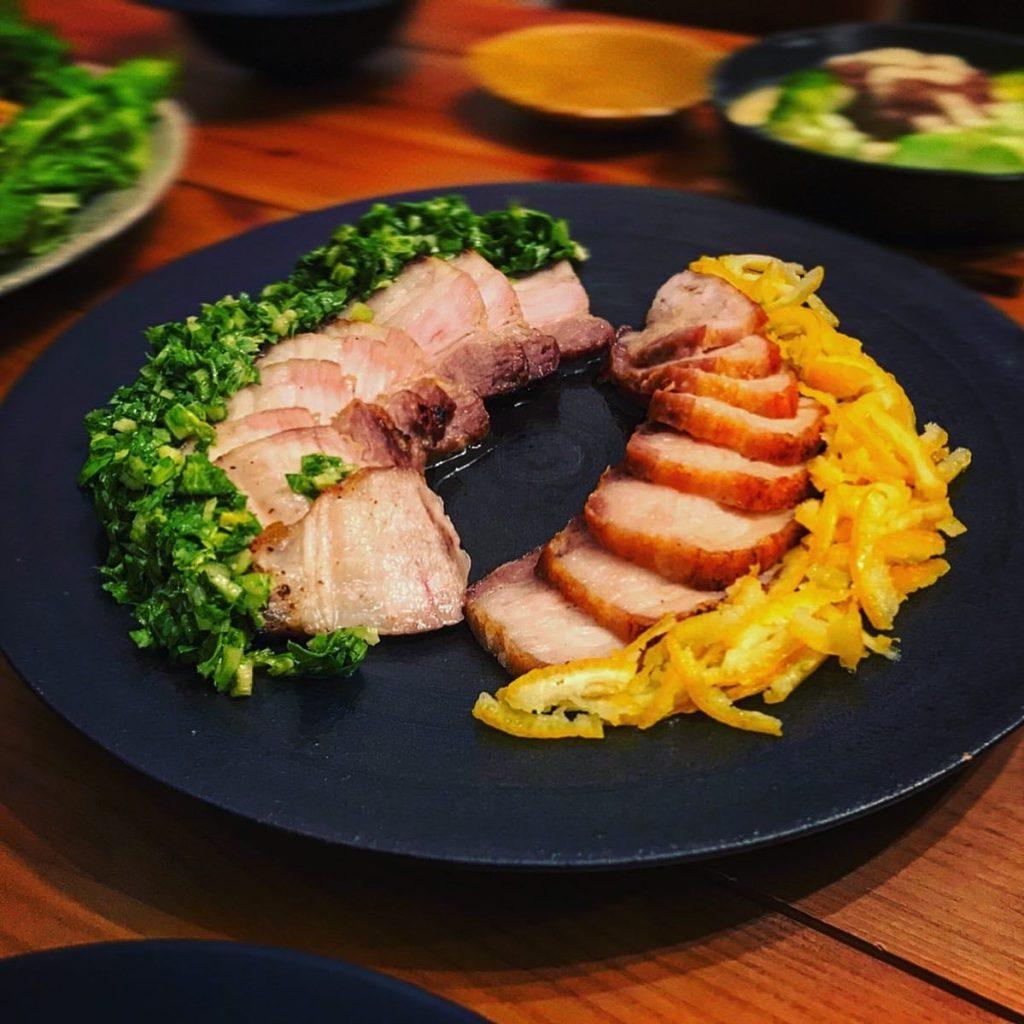 豚バラ肉のグリル