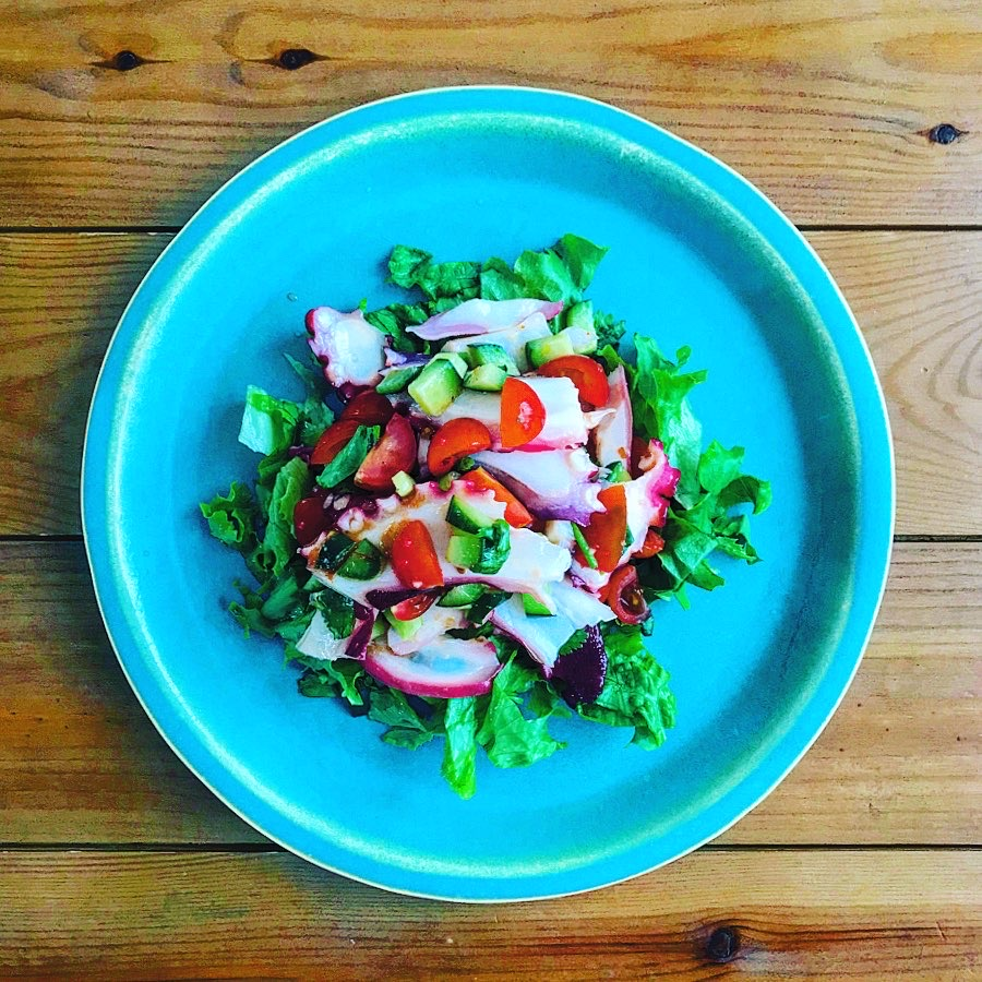 タコのセビーチェ風サラダ