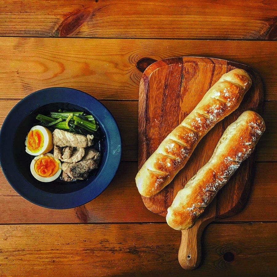 自家製ルーローパン