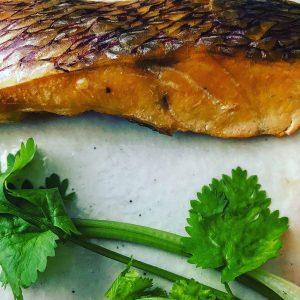 鯛切身の塩スモーク