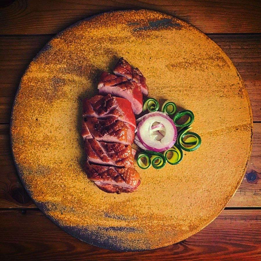鴨肉スモークのソテー