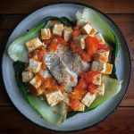 タラとトマトの麻辣豆腐
