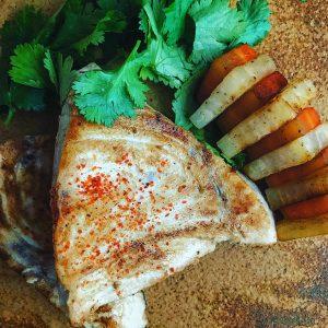 パクチーとナンプラー香るカジキのエスニック風ソテー