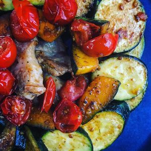 豚バラ肉のスパイス焼きラタトゥイユ風