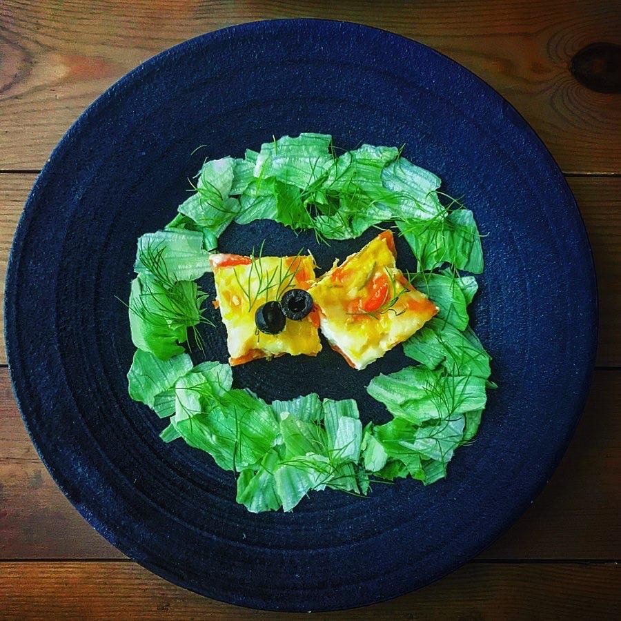 にんじん、チーズ、豆乳のミルフィーユ