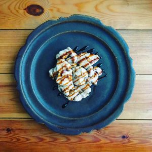 鮭白子のソテー、バルサミコソース