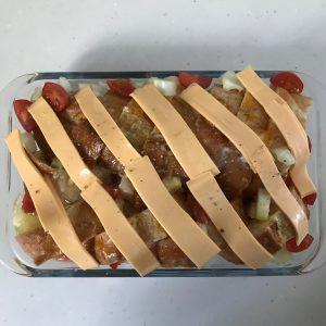 チーズと野菜のベイクドバケット