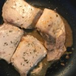 カジキマグロの味噌バター煮付け